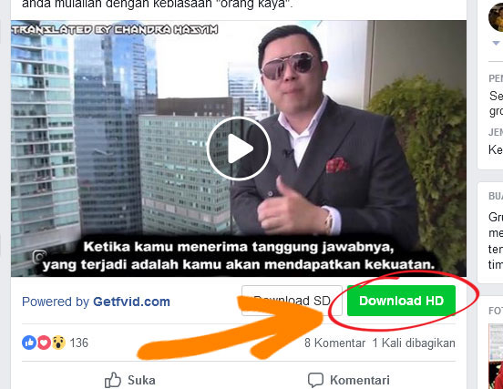 download video di facebook